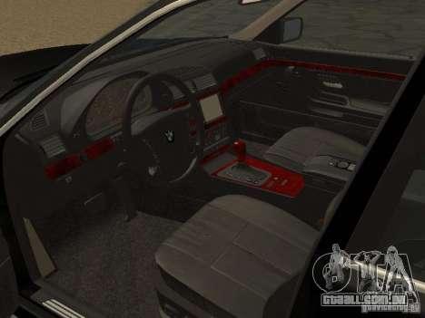 BMW 740I E38 (RUS) para GTA San Andreas vista direita