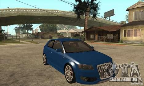 Audi S3 2007 - Stock para GTA San Andreas vista traseira
