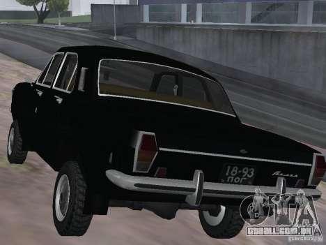 GAZ-24 VOLGA 95 para GTA San Andreas traseira esquerda vista