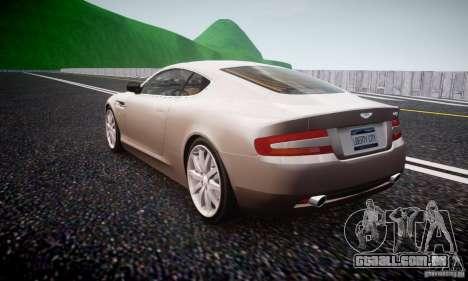 Aston Martin DB9 2005 V 1.5 para GTA 4 traseira esquerda vista