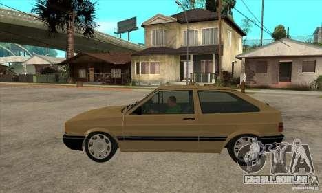 VW Gol GL 1.8 1989 para GTA San Andreas esquerda vista