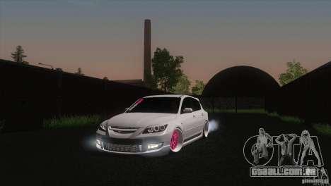 Mazda MazdaSpeed 3 para GTA San Andreas vista traseira