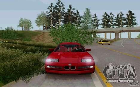 BMW 850i v2.0 Final para GTA San Andreas traseira esquerda vista