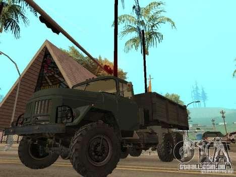 ZIL 131 caminhão para GTA San Andreas interior