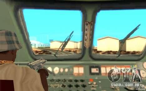 Lokomotiv ChS7-082 para GTA San Andreas vista traseira