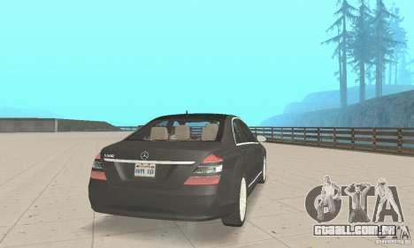 Mercedes-Benz S500 (w221) 2006 para GTA San Andreas esquerda vista