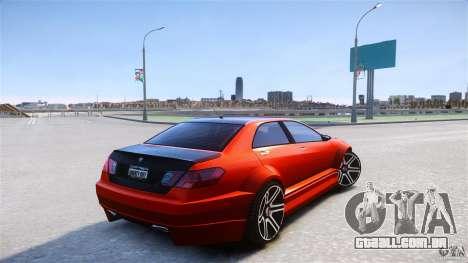 Schafter2 Sedan para GTA 4 traseira esquerda vista