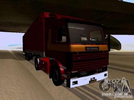 Scania 143M para GTA San Andreas esquerda vista