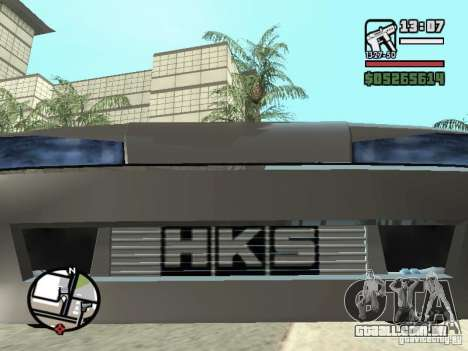 Elegy First Update By reNz para GTA San Andreas vista traseira