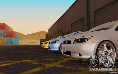 Scion tC para GTA San Andreas vista traseira