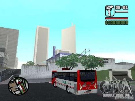 Caio Millennium TroleBus para GTA San Andreas esquerda vista