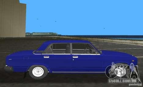 Carro LADA 2107 VAZ para GTA Vice City deixou vista