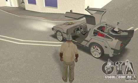 DeLorean DMC-12 (BTTF3) para GTA San Andreas vista traseira