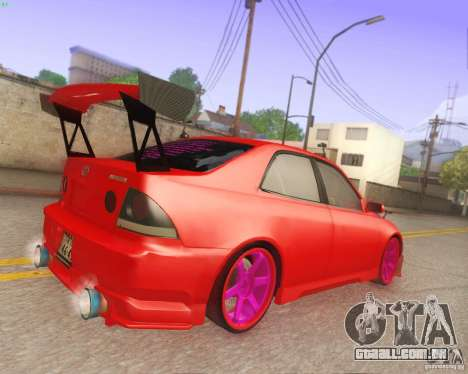 Toyota Altezza Drift Style v4.0 Final para GTA San Andreas vista interior