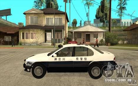 Nissan Cefiro A32 Kouki Japanese PoliceCar para GTA San Andreas vista traseira