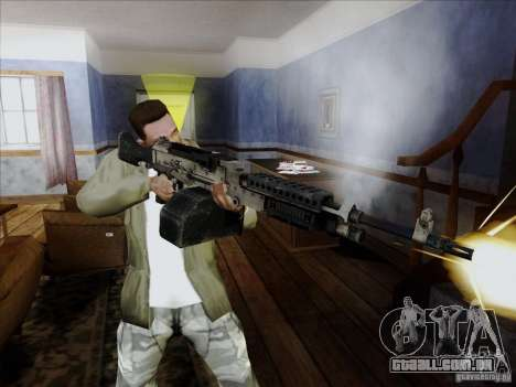 M240B para GTA San Andreas por diante tela