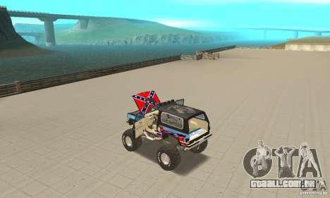 Chevrolet Blazer K5 Monster Skin 1 para GTA San Andreas vista interior