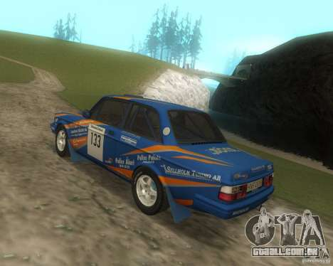 Volvo 242 Lightspeed Rally Edition para GTA San Andreas vista traseira