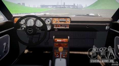 Nissan Skyline GC10 2000 GT v1.1 para GTA 4 vista de volta