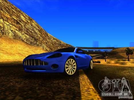 Aston Martin V12 Vanquish V1.0 para GTA San Andreas vista traseira