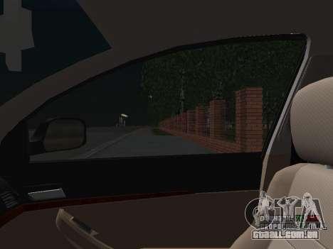 Toyota Avensis DPS para GTA San Andreas vista inferior
