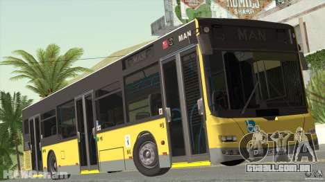 MAN Lion City para GTA San Andreas traseira esquerda vista