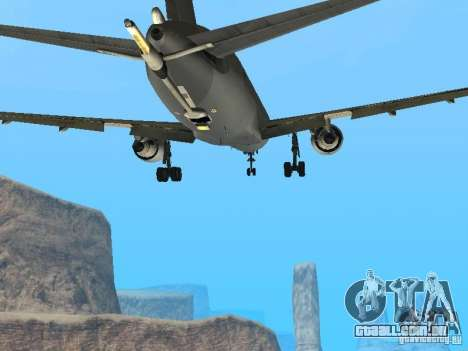 Boeing KC767 U.S Air Force para GTA San Andreas vista interior