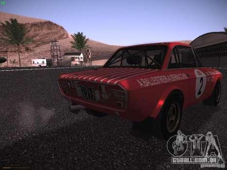 Lancia Fulvia Rally Marlboro para GTA San Andreas vista direita