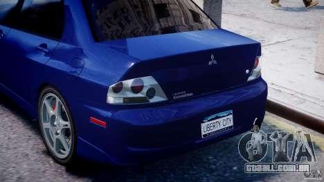 Mitsubishi Lancer Evolution VIII para GTA 4 motor