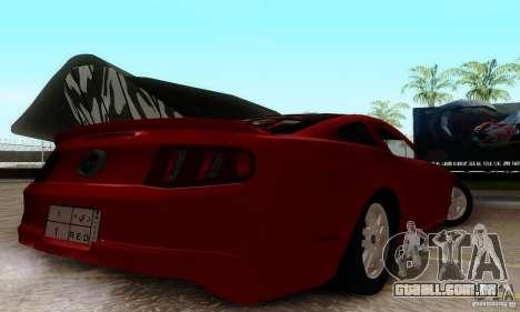 Ford Mustang 2010 para GTA San Andreas traseira esquerda vista