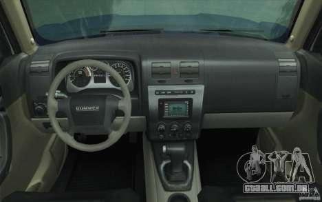 Hummer H3 para GTA San Andreas vista superior