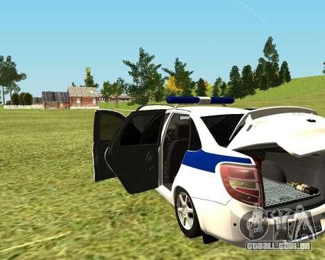 Polícia de 2190 VAZ para GTA San Andreas vista direita