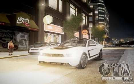 Ford Mustang 2012 Boss 302 v1.0 para GTA 4 traseira esquerda vista