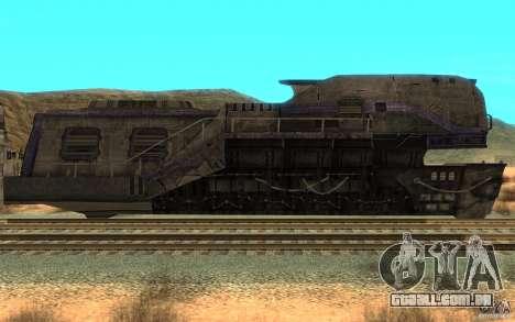 Um trem do jogo Aliens vs Predator v1 para GTA San Andreas esquerda vista