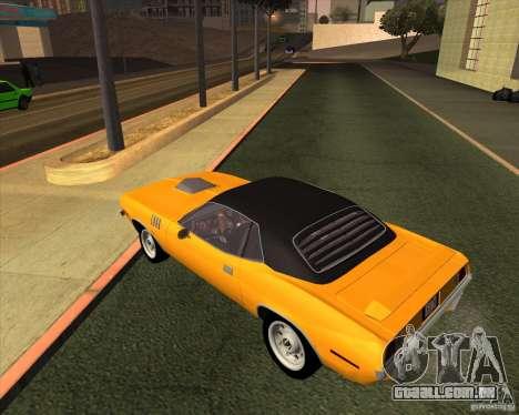 Plymouth Barracuda para GTA San Andreas esquerda vista