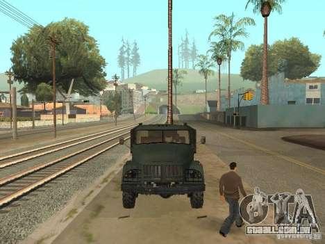 ZIL 131 caminhão para GTA San Andreas vista traseira