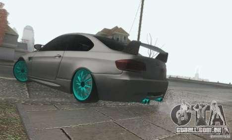BMW M3 E92 Hellaflush v1.0 para GTA San Andreas vista traseira