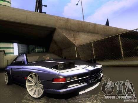 BMW 850 CSI para GTA San Andreas vista interior