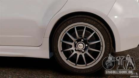 Subaru Impreza Cosworth STI CS400 2010 v1.2 para GTA 4 vista interior