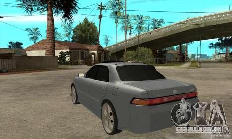 TOYOTA MARK II GT para GTA San Andreas traseira esquerda vista