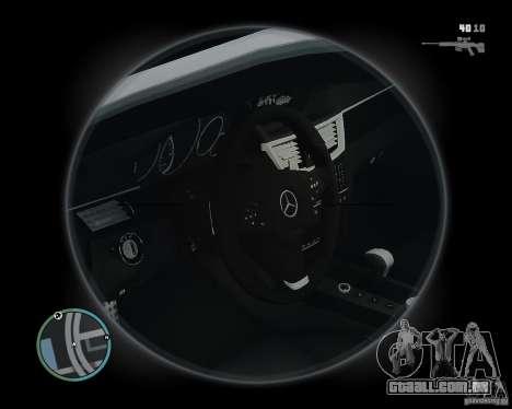 Mercedes Benz B63 S Brabus v1.0 para GTA 4 vista interior