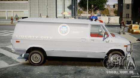 Chevrolet G20 Police Van [ELS] para GTA 4 vista de volta