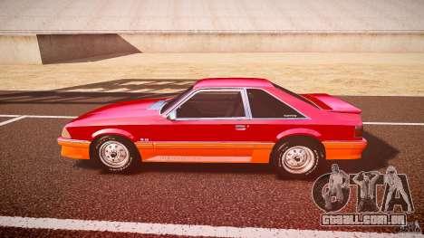 Ford Mustang GT 1993 Rims 2 para GTA 4 esquerda vista