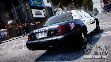 Ford Crown Victoria Massachusetts Police [ELS] para GTA 4 traseira esquerda vista