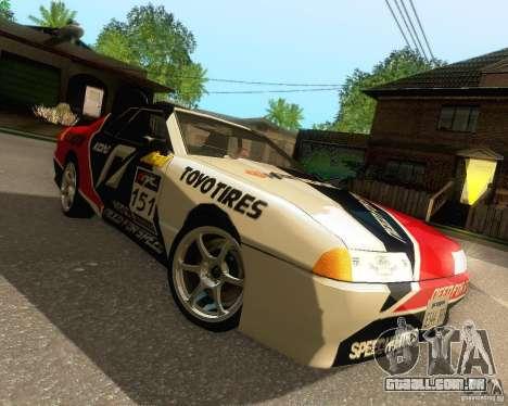 Need for Speed Elegy para GTA San Andreas vista inferior