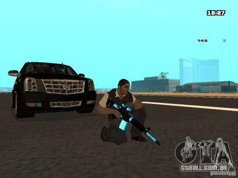 Black & Blue guns para GTA San Andreas por diante tela