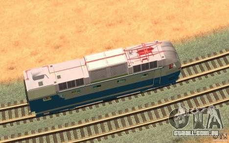 Lokomotiv ChS7-082 para GTA San Andreas vista interior
