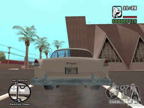 1955 Chevy Belair Sports Coupe para GTA San Andreas vista traseira