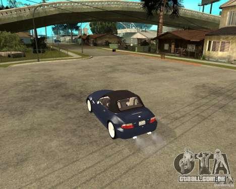 BMW Z3 Roadster para GTA San Andreas esquerda vista