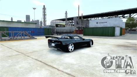 Chevrolet Corvette C6 Convertible v1.0 para GTA 4 vista inferior